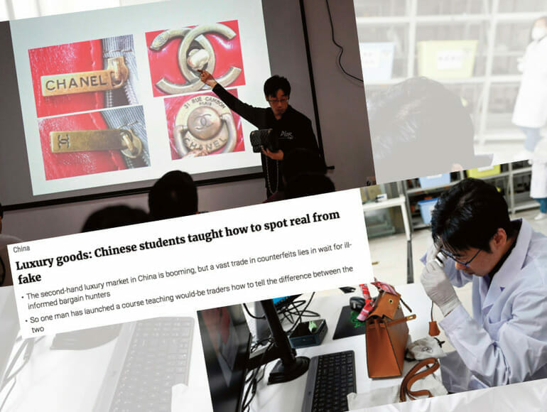 The training course to unmask luxury fakes coming from China